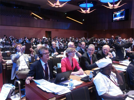 Mayor Aboutaleb of Rotterdam and the Dutch delegation at the World Heritage Committee meeting in Doha, Qatar.