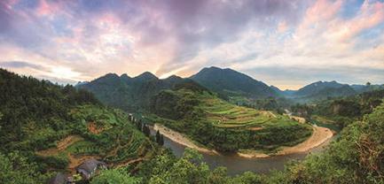 Het hart van de Tusi-sites en de rivier de Lingxi.