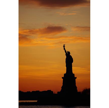 Het Vrijheidsbeeld in New York. (Foto: CC / jesse owen)