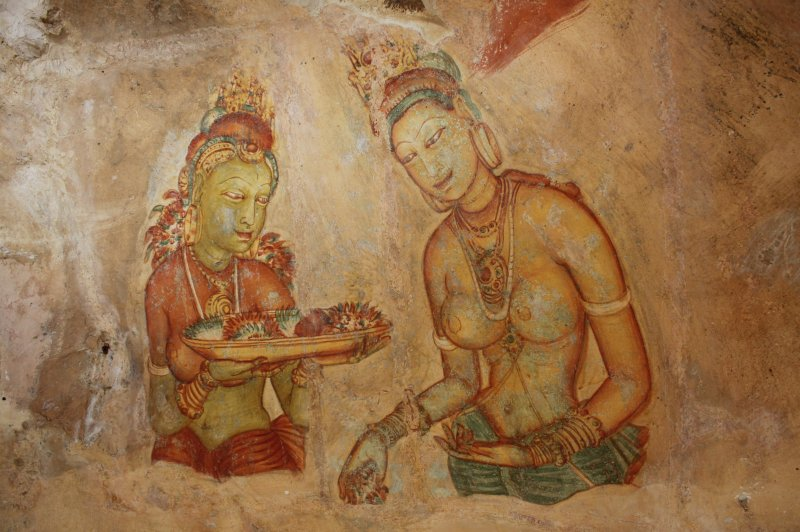 Apsara Paintings, Sigiriya, Sri Lanka, 2010. (Foto: CC/Flickr.com | Terry Feuerborn)