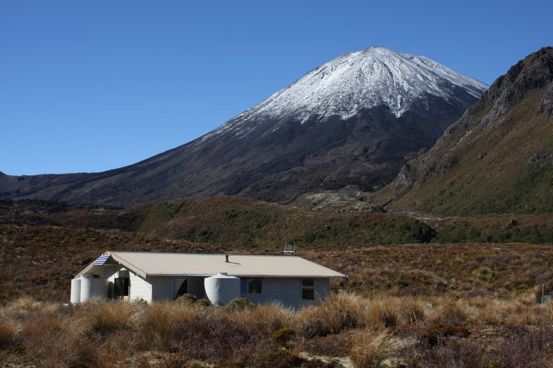 Mangatepopo Hut - Tongariro Northern Circuit. (Foto: CC/Flickr.com | Department of Conservation)