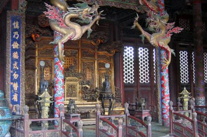 Qianlong's throne in Imperial Palace. (Foto: CC/Flickr.com | Mark)