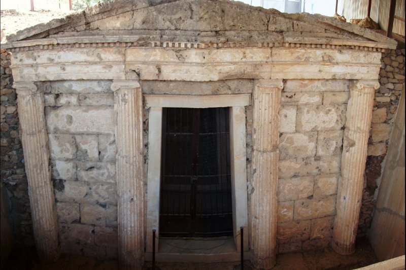 vergina macedonian tomb. (Foto: CC/Flickr.com | damian entwistle)